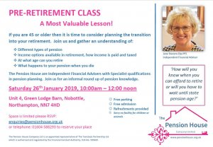 Pension Education Class - Open To All