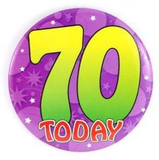 We're Seventy Today!